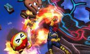 Captain Falcon usando Salto depredador en Smashventura SSB4 (3DS).jpg
