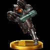 Trofeo de Samus (Traje Oscuro) SSB4 (Wii U).png