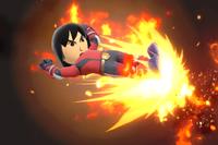 Vista previa de Patada ardiente en la sección de Técnicas de Super Smash Bros. Ultimate