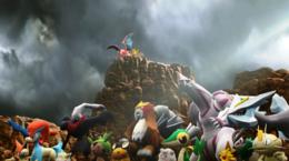 Varios Pokémon en el Tráiler de Greninja (2) SSB4.png