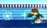 Tirador Mii utilizando Carga explosiva en Super Smash Bros. para Nintendo 3DS