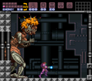 Mother Brain cargando el Hiperrayo Super Metroid.PNG