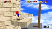 Plataforma movil en Whomp's Fortress en Super Mario 64.jpg