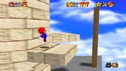 Plataforma móvil en Super Mario 64.