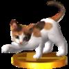Trofeo de Gato tricolor SSB4 (3DS).png