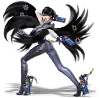 Art oficial de Bayonetta en Super Smash Bros. Ultimate
