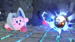 Kirby usando Ultrafulgor/Megafulgor.