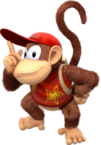 Art oficial de Diddy Kong en Donkey Kong Country: Tropical Freeze