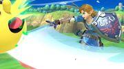 Link y Pac-Man en el Tren de los dioses SSBU.jpg