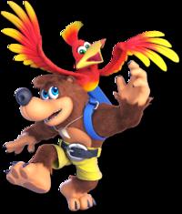 Art oficial de Banjo y Kazooie en Super Smash Bros. Ultimate
