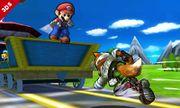 Fox corriendo en las vias del Tren de los Dioses SSB4 (3DS).jpg