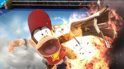 Diddy Kong usando Cacahuetola en el Ring de boxeo SSB4 (Wii U).jpg