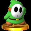 Trofeo de Shy Guy verde SSB4 (3DS).png