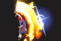 Vista previa de Salto Llamarada en la sección de Técnicas de Super Smash Bros. Ultimate