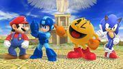 Mario, Mega Man, Pac-Man y Sonic en el Reino del Cielo SSB4 (Wii U).jpg