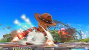 Ataque de recuperación boca abajo (1) Tirador Mii SSB4 Wii U.jpg