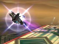 Wolf usando Centella Wolf en Super Smash Bros. Brawl