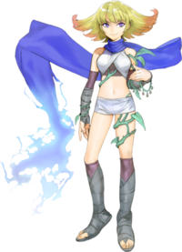 Artwork de Ámbar en Kid Icarus: Uprising