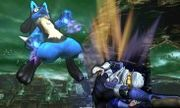 Lucario y Sheik en el Bosque Genesis SSB4 (3DS).jpg