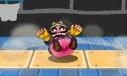 Ataque Smash hacia abajo de Wario (2) SSB4 (3DS).JPG