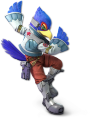 Art oficial de Falco en Super Smash Bros. Ultimate