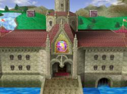 Cámara alejada del castillo de Peach