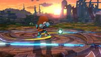 Tirador Mii lanzando una Bomba terrestre en Super Smash Bros. para Wii U
