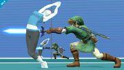 Entrenadora de Wii Fit esquivando un ataque SSB4 (Wii U).jpg