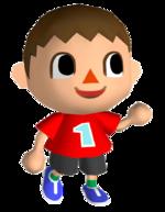 Art oficial del Aldeano en Animal Crossing: City Folk.