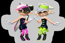 Art oficial de las calamarciñas en Super Smash Bros. Ultimate