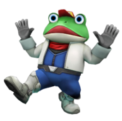 Art oficial de Slippy Toad en Star Fox 64 3D.