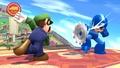 Luigi regresando un ataque a Mega Man SSB4 (Wii U).jpg