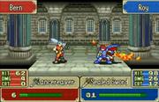 Golpe critico de Roy en Fire Emblem The Binding Blade.png