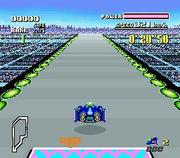 Blue Falcon en Mute City I de F-Zero (Super Nintendo).png