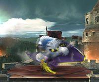 Meta Knight usando la Capa dimensional en Super Smash Bros. Brawl