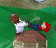 Lanzamiento trasero de Dr. Mario (1) SSBM.png