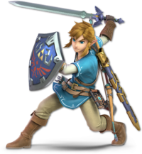 Art oficial de Link en Super Smash Bros. Ultimate.