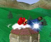 Ataque Smash hacia abajo de Mario (1) SSBM.png