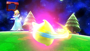 Estela haciendo girar al Destello SSB4 (Wii U).png