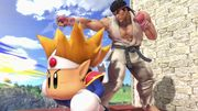 Ryu junto a Knuckle Joe SSBU.jpg
