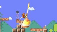 Daisy usando la Sombrilla de Daisy en Super Smash Bros. Ultimate