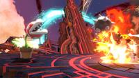 La Planta Piraña sosteniendo la bola de pinchos en Super Smash Bros. Ultimate