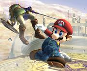 Ataque fuerte hacia abajo de Mario SSBB.png