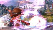 Ataque fuerte hacia abajo Tirador Mii SSB4 Wii U.jpg