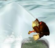 Ataque de recuperación desde el borde -100% de Donkey Kong SSBM.png