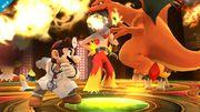 Dr. Mario y Charizard en la Liga Pokémon SSB4 (Wii U).jpg