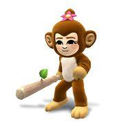 Artwork de Karateka Mii mujer con el traje y el gorro de mono.jpg