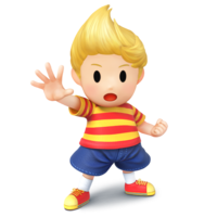 Art oficial de Lucas en Super Smash Bros. para Nintendo 3DS y Wii U