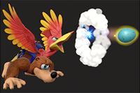 Vista previa del Disparo de Huevos en la sección de Técnicas de Super Smash Bros. Ultimate