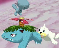 Vista de Poké Globos en Super Smash Bros. Melee